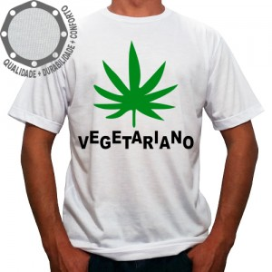 Camiseta Vegetariano Cannabis