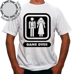 Camiseta Casamento Game Over