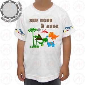 Camiseta Dinossauros Floresta
