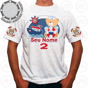 Camiseta Ursinho Marinheiro Barquinho