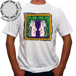 Camiseta Signo Gêmeos Colorido