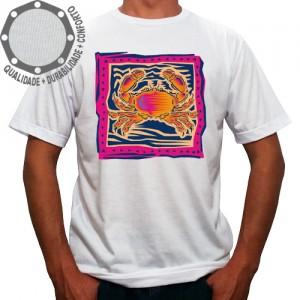 Camiseta Signo Câncer Colorido