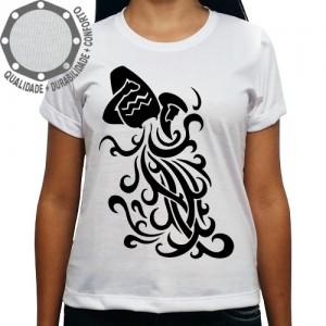Camiseta Signo Aquário Tribal