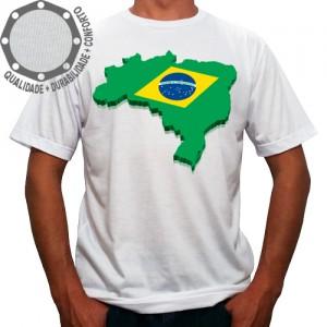 Camiseta Brasil Mapa