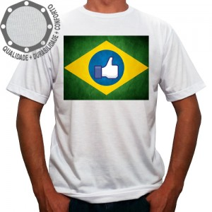 Camiseta Brasil Bandeira Like