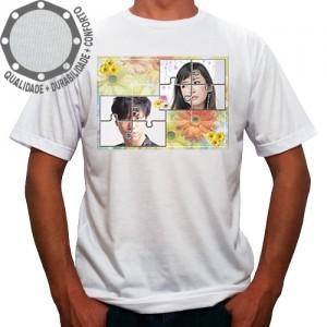 Camiseta Com Sua Foto Moldura Quebra Cabeça