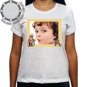 Camiseta Com Sua Foto Moldura B Ursinhos