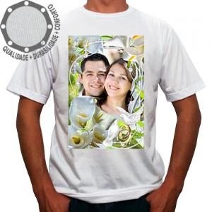 Camiseta Com Sua Foto Moldura Dia dos Namorados Copo de Leite