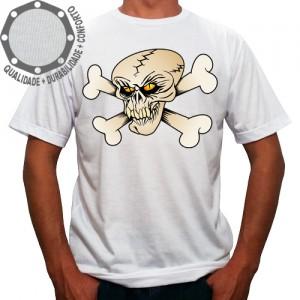 Camiseta Caveira Ossos