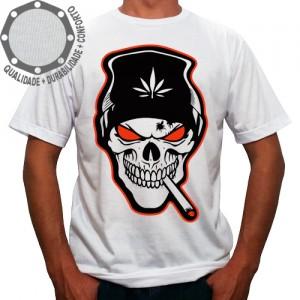 Camiseta Caveira Cannabis