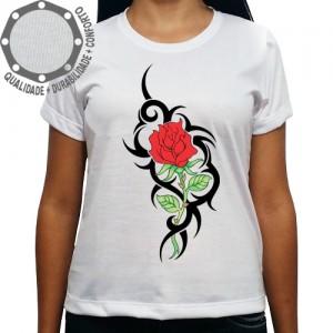 Camiseta Tribal Rosa Vermelha