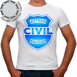 Camiseta Carnaval Estado Civil Solteiro