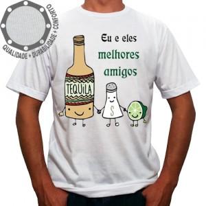 Camiseta Carnaval Melhores Amigos Tequila