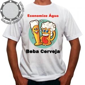 Camiseta Carnaval Economize Água Beba Cerveja