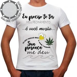 Camiseta Carnaval Meu Fechamento é Você Mozão