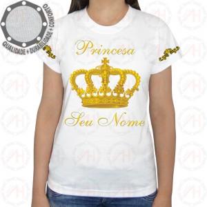 Camiseta Coroa Dourada Princesa