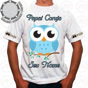 Camiseta Coruja Azul Pose
