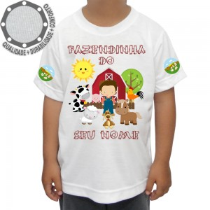 Camiseta Fazendinha Menino