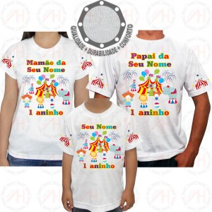 Kit 3 Camisetas Circo