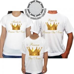 Kit 3 Camisetas Coroa
