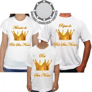 Kit 3 Camisetas Coroa Rei