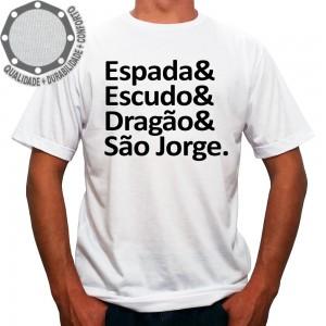 Camiseta Espada & Escudo & Dragão & São Jorge