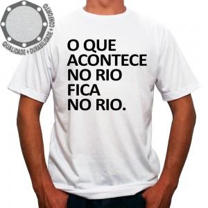 Camiseta Acontece no Rio Fica no Rio