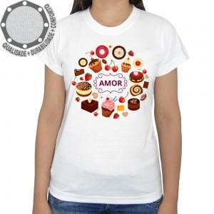 Camiseta Doçaria Bolinhos Amor