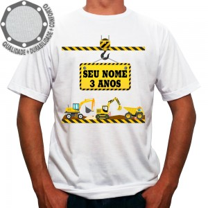 Camiseta Construção Maquinas