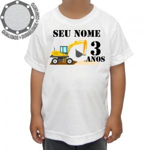 Camiseta Construção Escavadeira