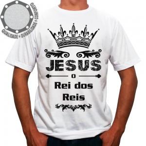 Camiseta Jesus O Rei Dos Reis