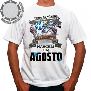 Camiseta Homens Deuses Nascem Em Agosto