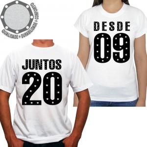 Kit 2 Camisetas Namorados Juntos Desde