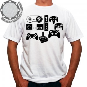Camiseta Controles Joysticks