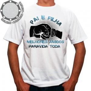 Camiseta Dia dos Pais Pai e Filha Melhores Amigos