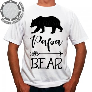 Camiseta Papai Urso Papa Bear Arrow