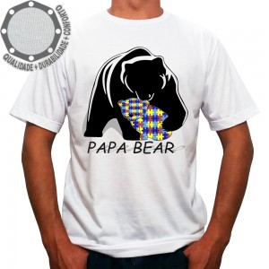 Camiseta Papai Urso Papa Bear Color
