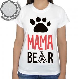 Camiseta Mamãe Ursa Mama Bear