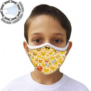 Máscara de Proteção Smile Tecido Lavável