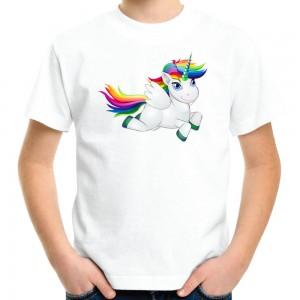 Camiseta Unicórnio Flying Camisa Personalizada
