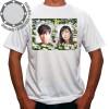 Camiseta Com Sua Foto Moldura Gérberas Dual