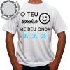 Camiseta Carnaval O Teu Sorriso Me deu Onda