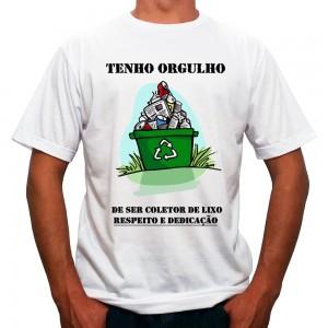 Camiseta Tenho Orgulho de ser Coletor de Lixo Camisa