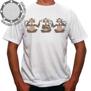 Camiseta Três Macacos Sábios