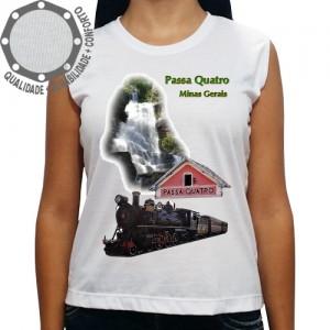 Camiseta Passa Quatro Cachoeira e Trem