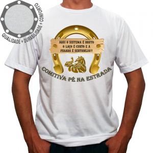 Camiseta Comitiva Pé Na Estrada