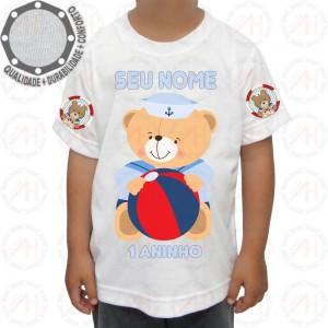 Camiseta Ursinho Marinheiro Bola
