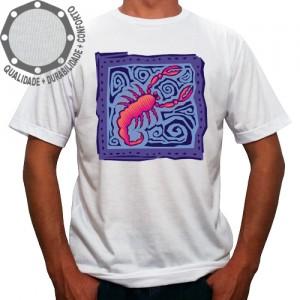 Camiseta Signo Escorpião Colorido