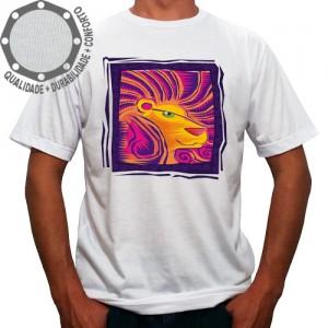 Camiseta Signo Leão Colorido