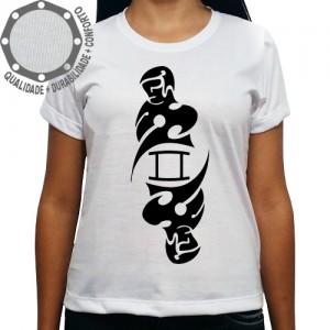 Camiseta Signo Gêmeos Tribal